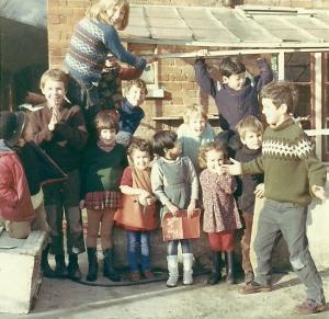 School photo at summerhouse circa 1967 /8